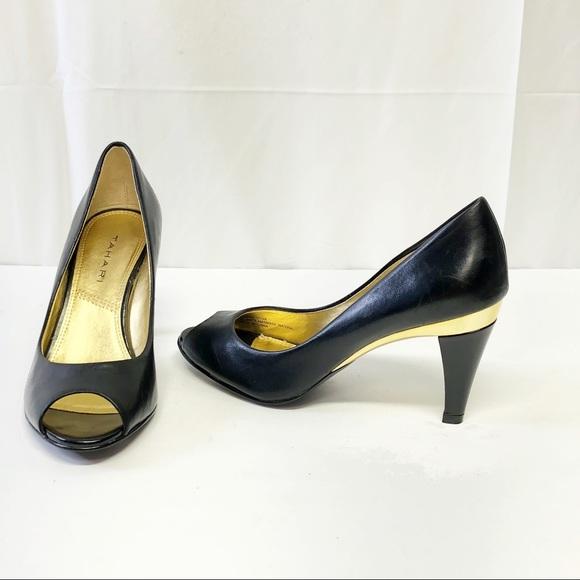 Elie Tahari Rory Black Lace Pumps Shoes